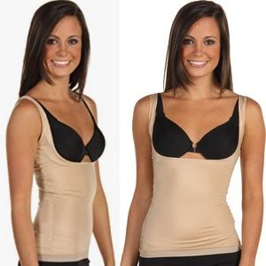 Spanx Slimplicity Nude Open Bust Camisole Tank